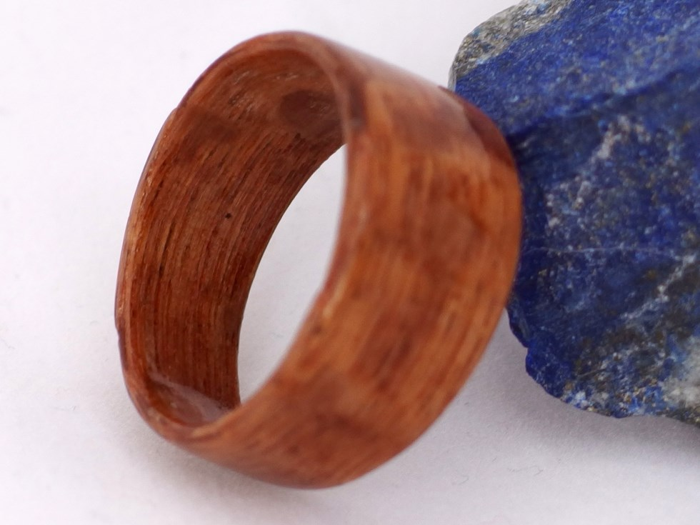 WIDE bentwood men's ring size 12 1/2 lacewood