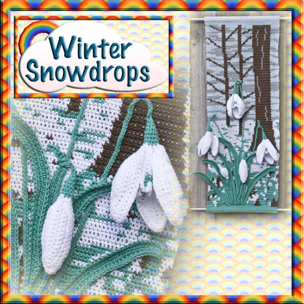 Snowdrop for Winter Wall Hanging Crochet Pattern