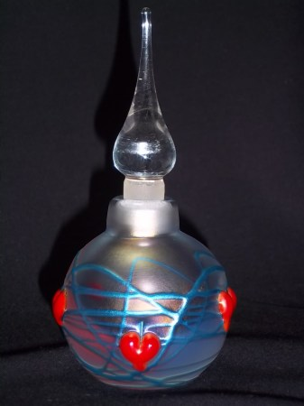 Vandermark Hand Blown Art Glass Hearts Perfume