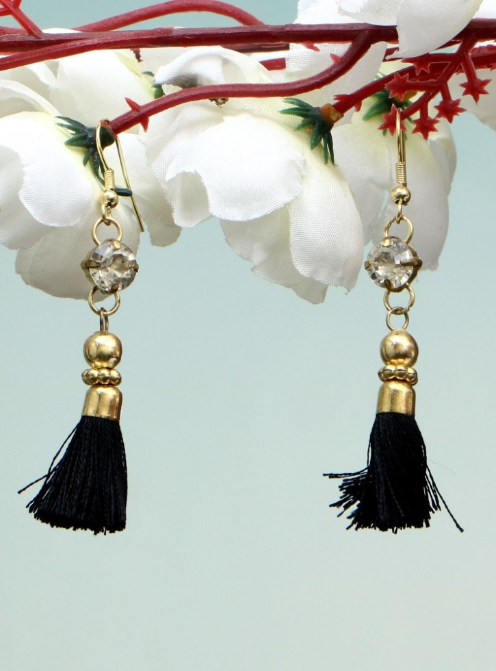 Handmade Artificial Earrings Stretch Limo Color