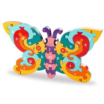 Butterfly hand made jigsaw Puzzle non-toxic Paint