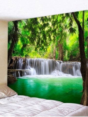Fabric Wall Tapestry/Throw Lake Waterfall
