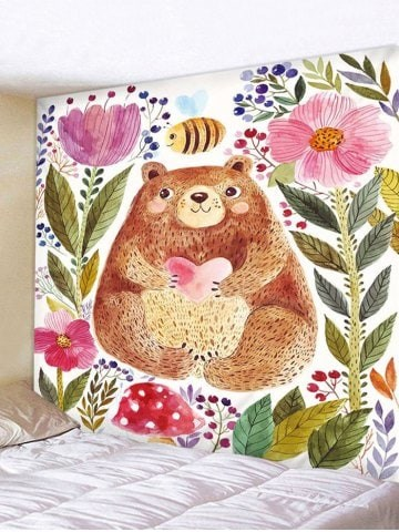 Fabric Wall Tapestry/Throw Big Bear