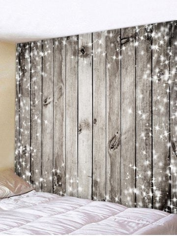 Fabric Wall Tapestry/Throw Sparkle Stars Wood