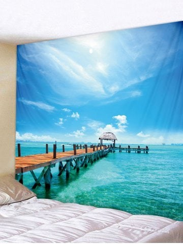 Fabric Wall Tapestry/Throw Sea Scene