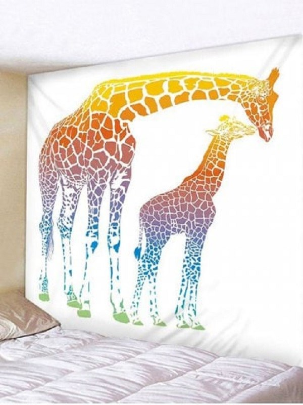 Fabric Wall Tapestry/Throw Giraffes