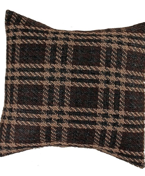 Brown plaid cushion cover
