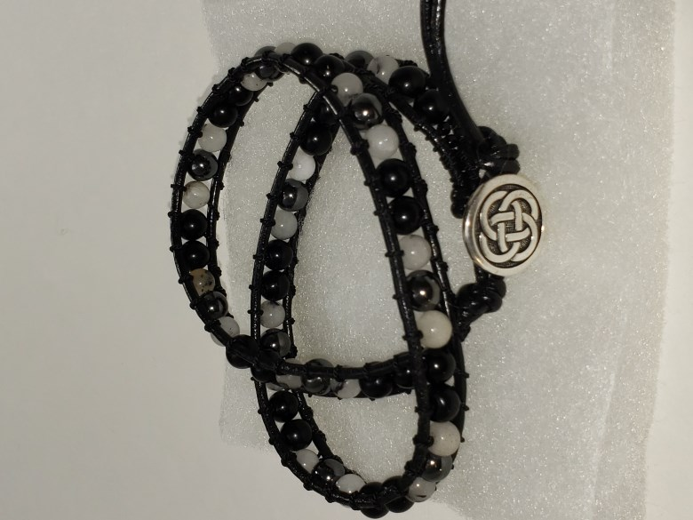 Black Tie - Double Wrap Bracelet