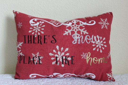 There's snow place like home/Let's Get Cozy Pillow
