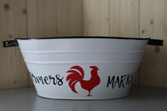 Farmer's Market Tin Bucket