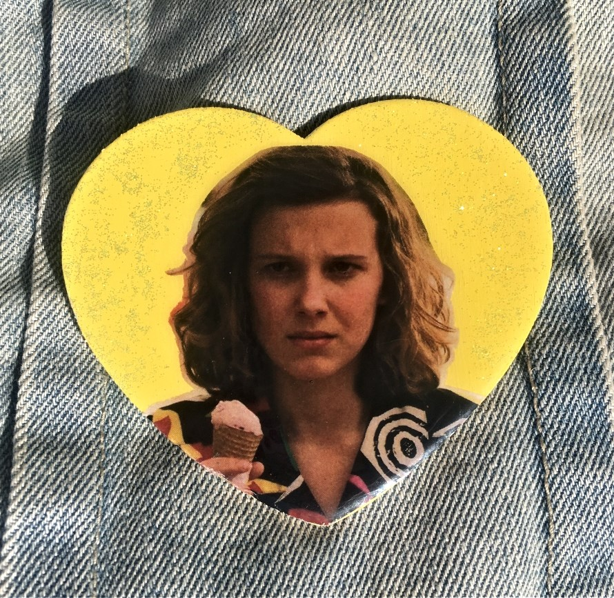 Stranger Things Eleven pinback button