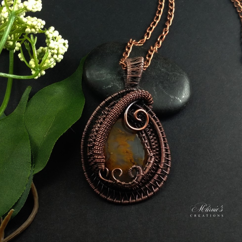 Copper Pendant with Palm Agate