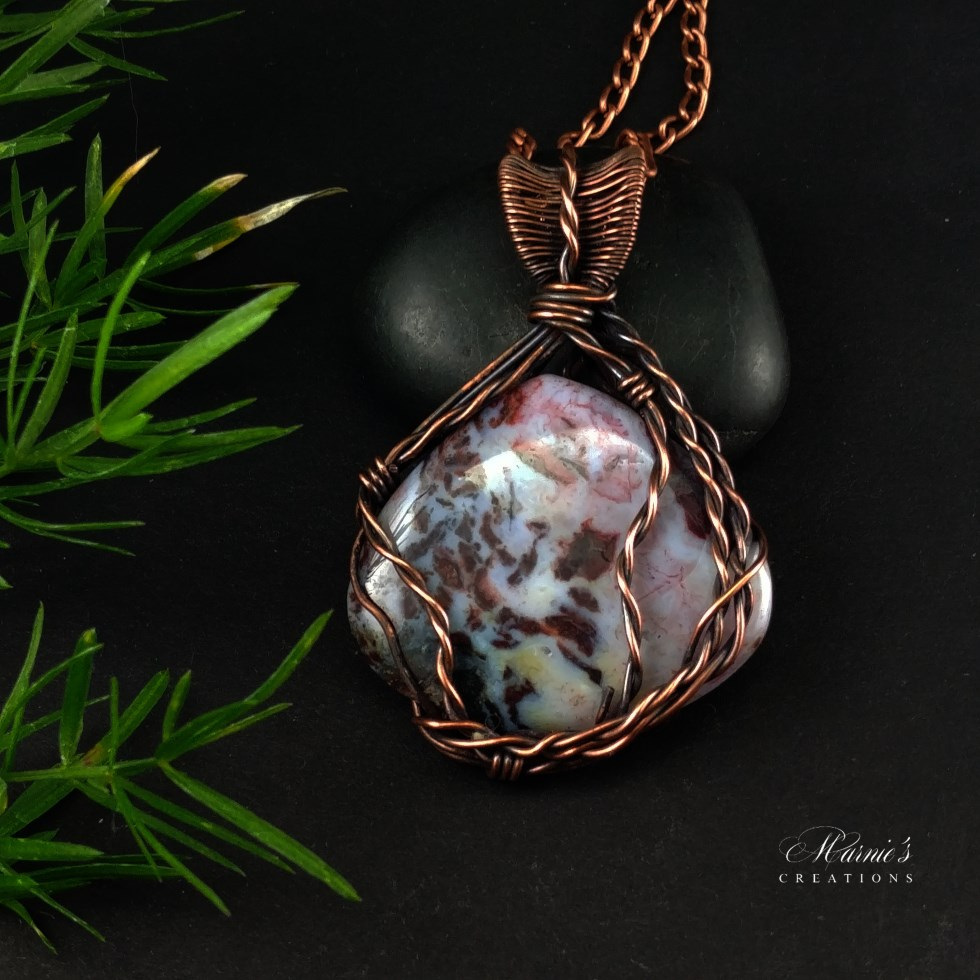 Copper Pendant with Fancy Jasper