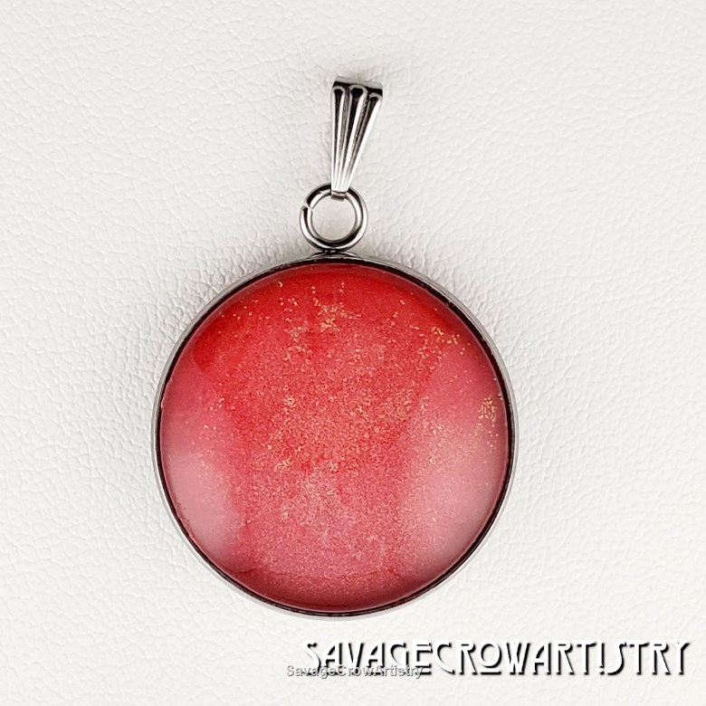 25mm Cabochon Coral Glow