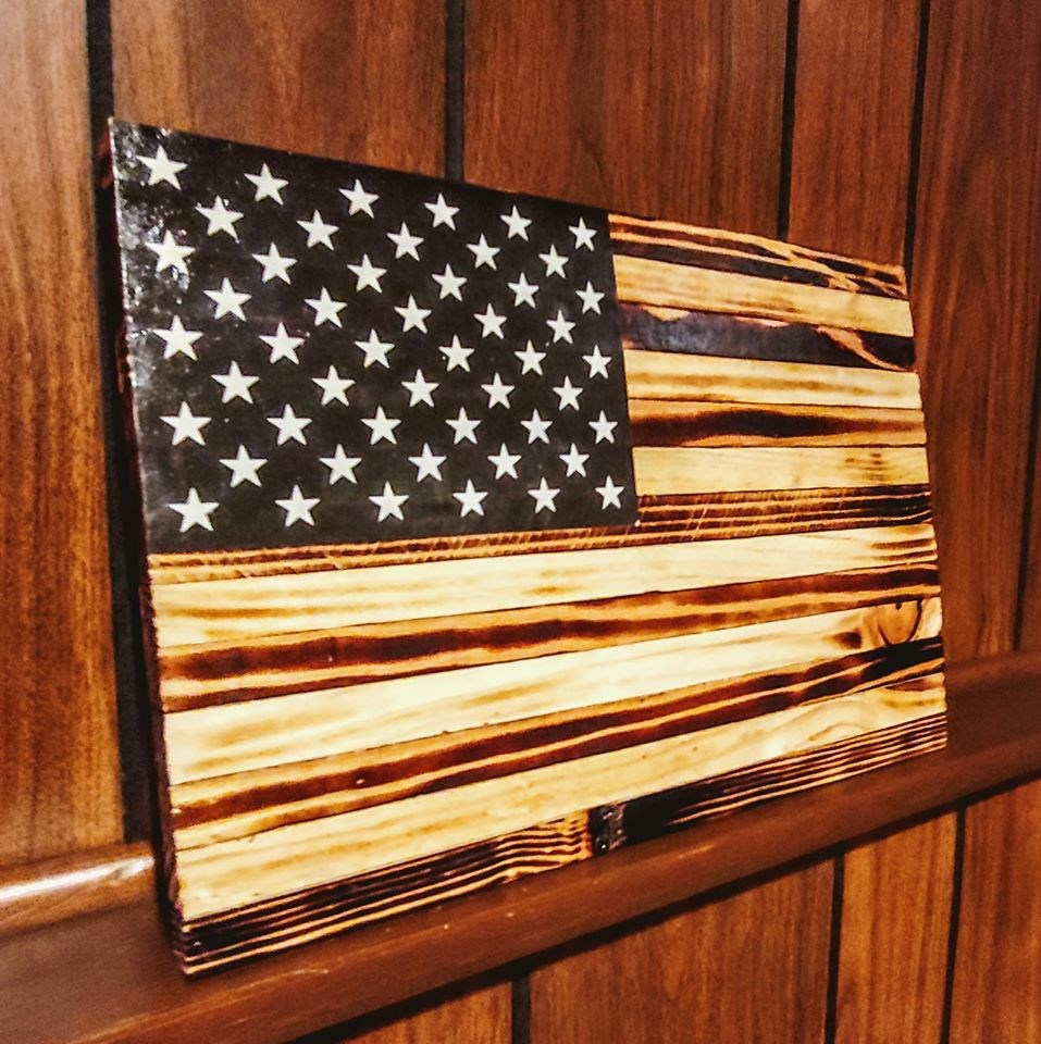 CrafterBuilt Wood American Flag
