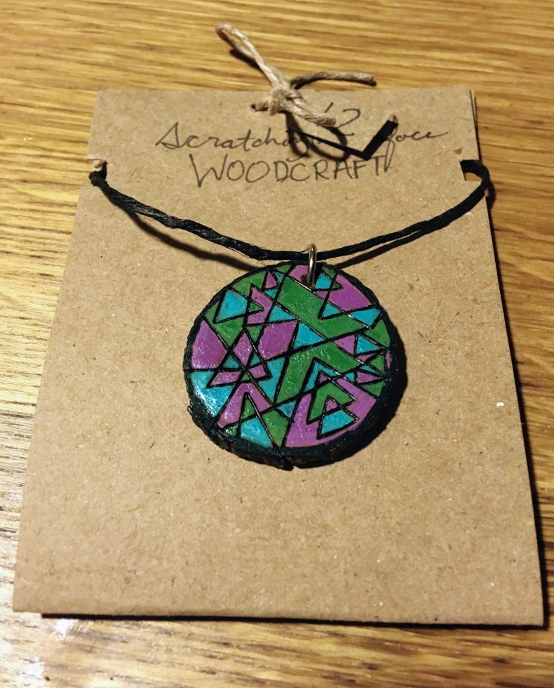 Cool Colors Abstract Necklace