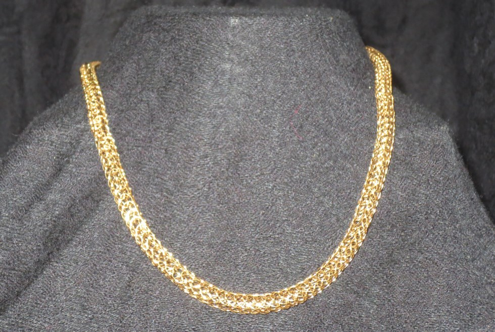 Gold Duo-weave Necklace