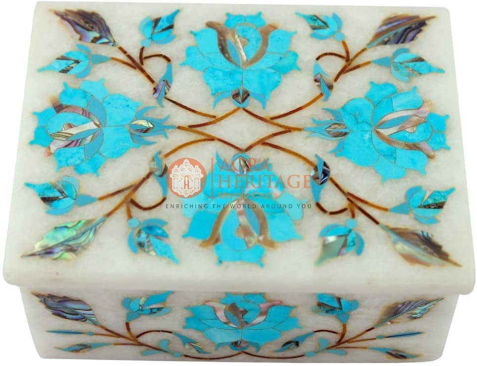 Turquoises Floral Vintage Box Housewarming Gifts