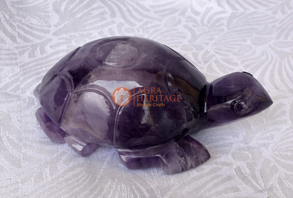 Amethyst Tortoise Good Wishes Handicraft Gift Art