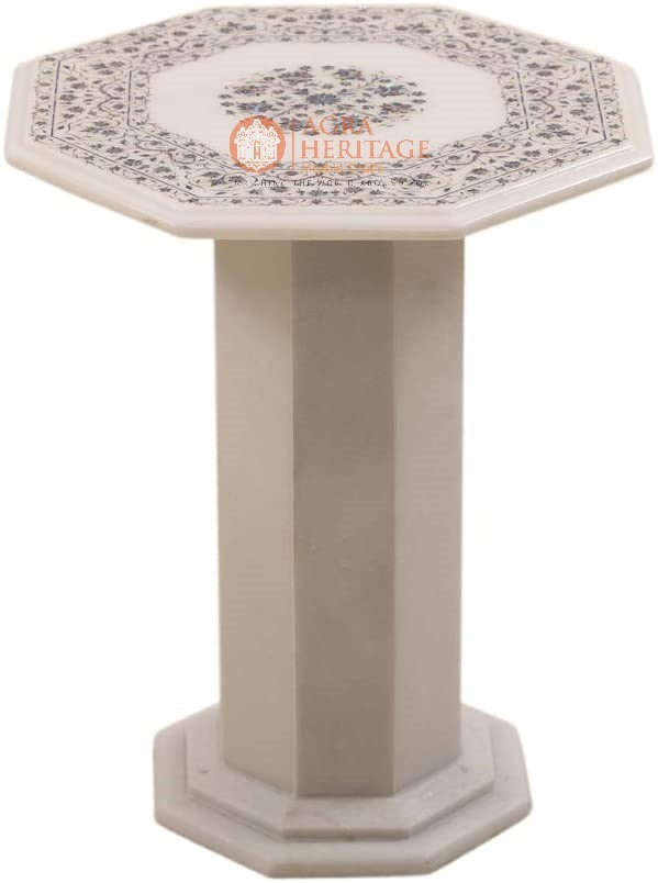 White Marble Pauashell Fine Floral Coffee Table