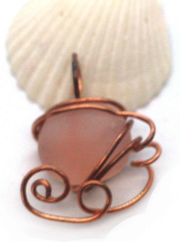 copper wrapped flat bead
