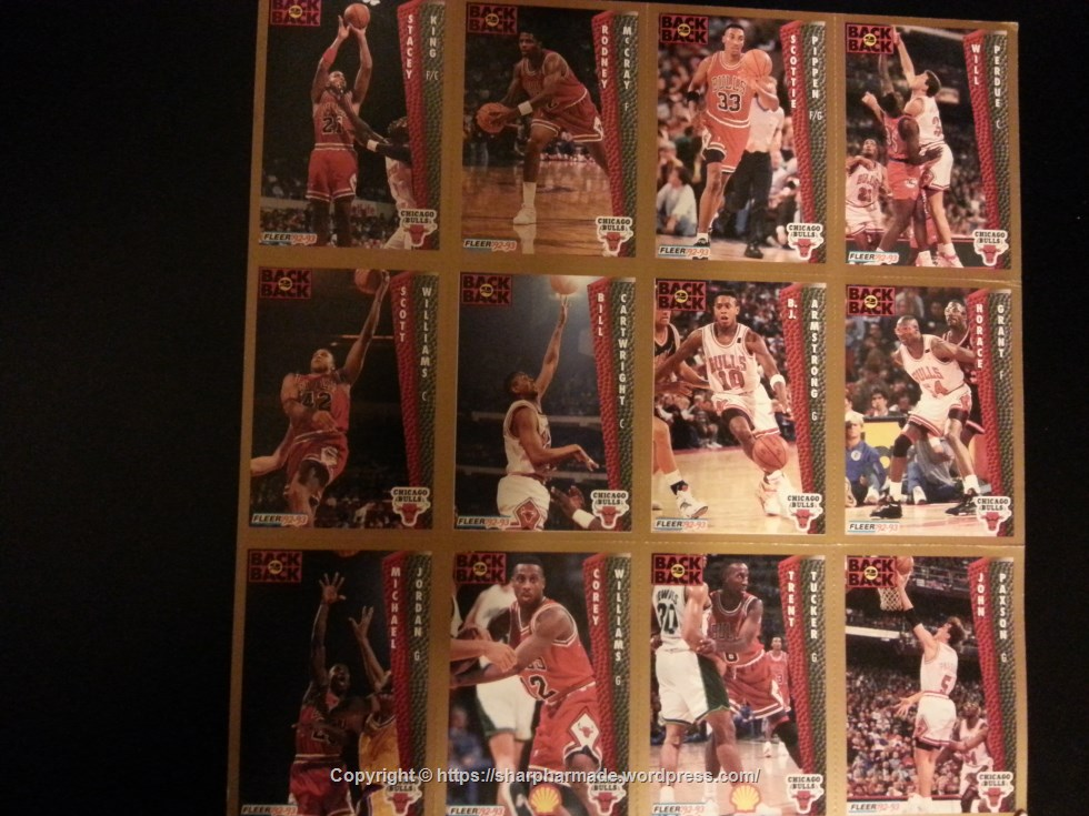 Bulls Basketball Cards Fleer 92-93 Featuring Team