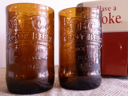IBC Root Beer Soda Bottle Tumbler Drinking Glasses
