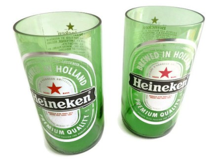 Heineken Beer Bottle Tumbler Drinking Glasses
