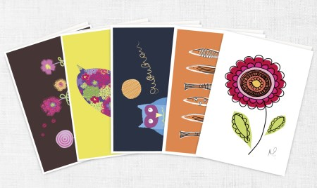 Set of 10 cards