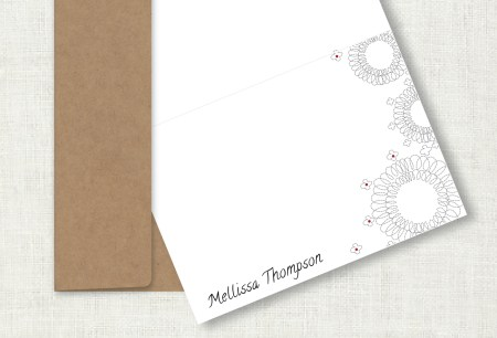 Personalized notecards, set of 10