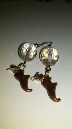 earrings; vintage beads