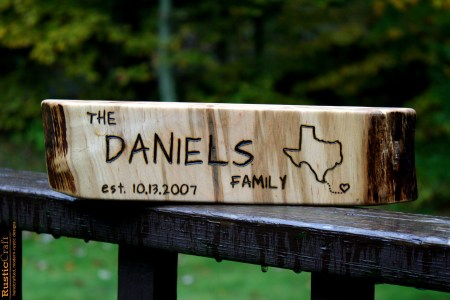 Personalized Sign - MEDIUM-LONG - Rustic Wood