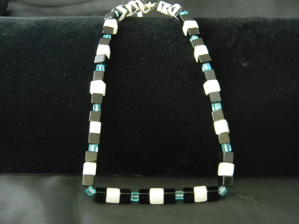 Geometric Onyx Necklace