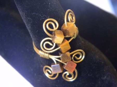 Tiger Eye Spiral Ring