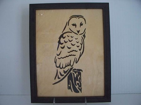 Framed Art- Owl