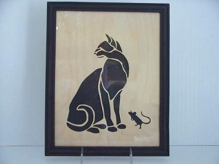 Framed Art- Cat and Mouse