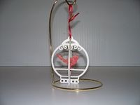 Slotted Birdcage Ornament-Cardinal