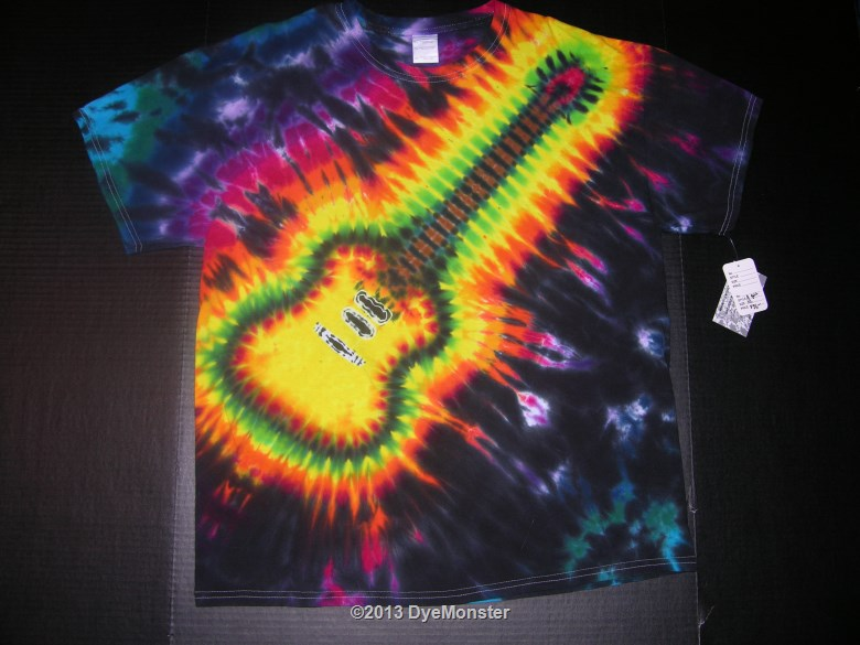 XL cherry sunburst electric guitar tie dye