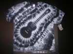 XL Black Monochrome Electric Guitar Tie-dye