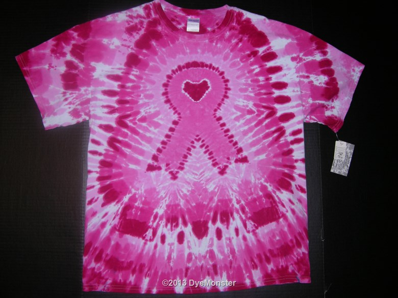 XL Breast Cancer Awareness Ribbon Tie-dye