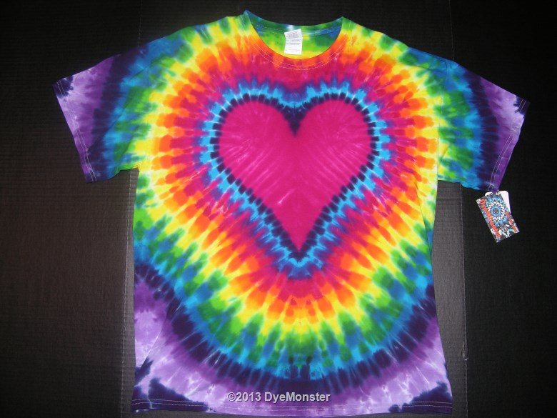 XL Rainbow Heart Tie-dye
