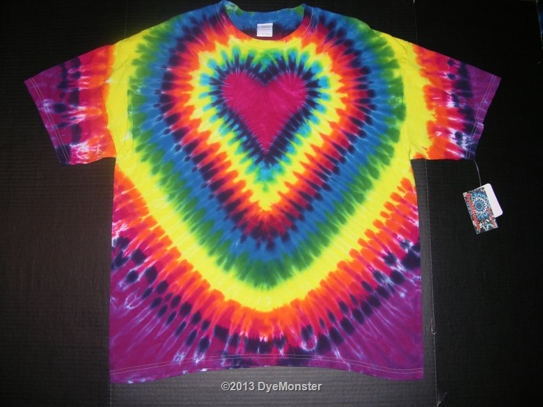 XL Rainbow Heart Tie-dye 3143