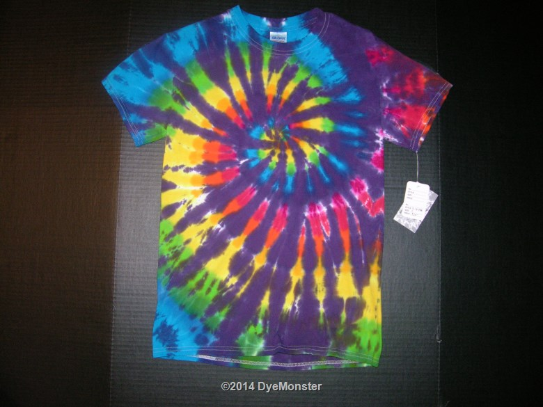 Small Purple/Rainbow Spiral Tie-dye