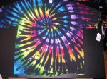 4XL Black Rainbow Spiral Tie-dye