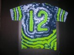 Large 12th Man Adult Tie-dye T-shirt