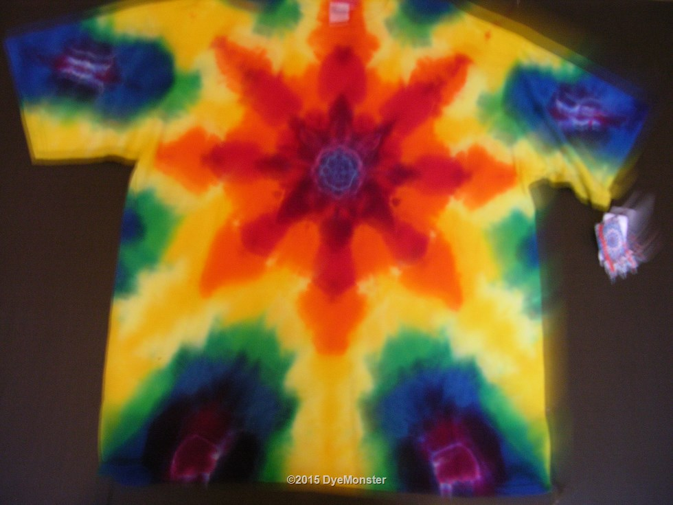 2XL Rainbow Starflower Tie-dye
