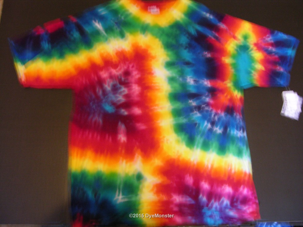 2XL Rainbow Geometric Tie-dye #3510