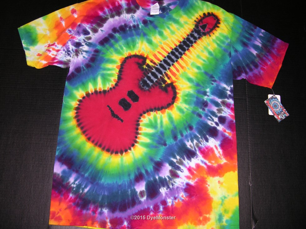 XL Red Electric guitar tie-dye