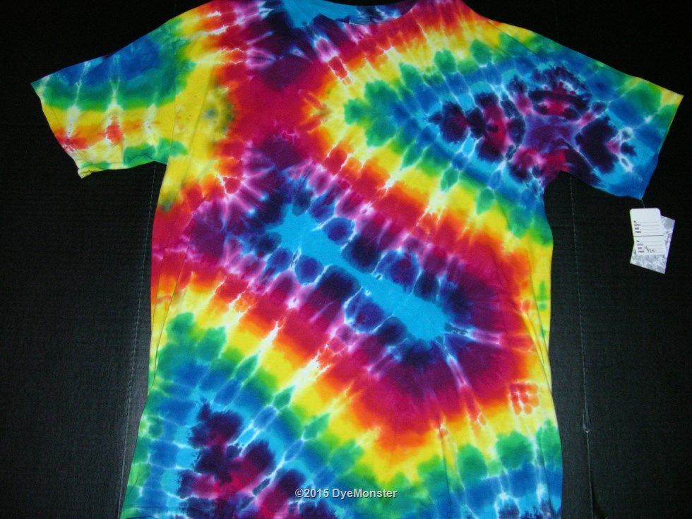 XL Rainbow Geometric tie-dye