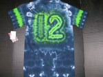 S 12th Man Football Fan tie-dye
